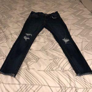 Fashion Nova dark wash jeans